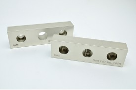 "SVK 0203-FXM - ""Fixed and Movable Jaw Plates / Machinable / 7075"