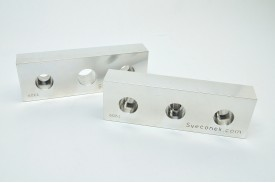 "SVK 0303-FXM - ""Fixed and Movable Jaw Plates / Machinable / 6061"""